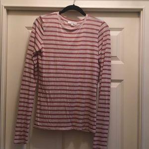 Viscose striped longsleeve shirt